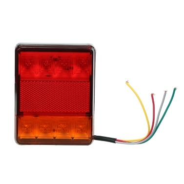 2X 12V 8LED Carvan Van Truck Lorry Trailer Rear Tail Light Stop Lights Indicator Lamp