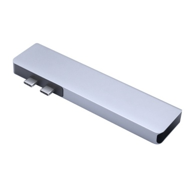 Multiport Hub, Type C Hub, 4K HD Display, 7-in-1 USB 3.0 and Type C Data Adapter Card Reader