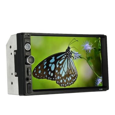 7 inch Universal 2 Din HD Bluetooth USB/TF FM Aux Input Car Radio MP5 Player Multimedia Radio Entertainment with HD Rear View Camera