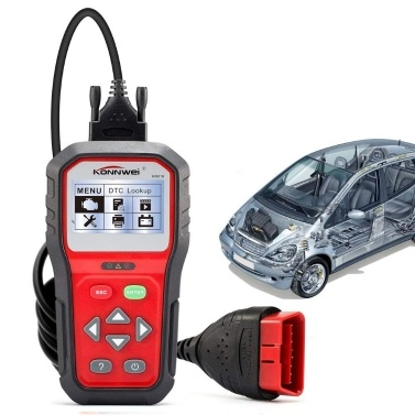 KONNWEI KW818 12V Car Engine Fault Code Reader Scanner Auto Automotive Engine Diagnostic Scan Tool Multi-Languages