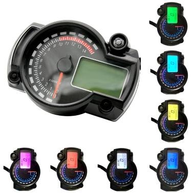 Motorrad Tachometer LCD Digital Tachometer Kilometerzähler 7 Farben mit Fehler Warnleuchte für RX2N 4 Zylinder 400CC 5000rpm