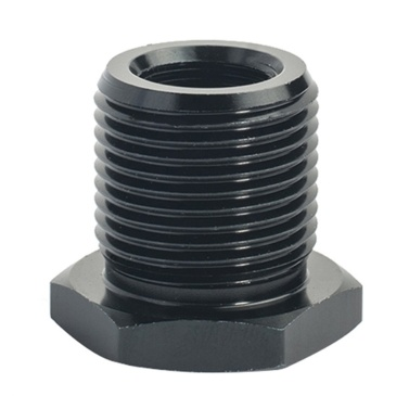 1Pc 1/2-28 to 3/4-16 Adapter Automotive Aluminum Alloy Thread Oil Filter Adapter Black