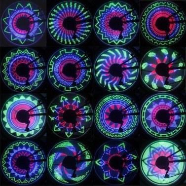 Fahrradlicht Reifenventilkappe Fahrradluftflamme LED-Blitzlicht Wasserdicht Coole Radlichter Neonlampe für Rennrad, Sehr hell, Auto & Manueller Doppelschalter, 32 Muster