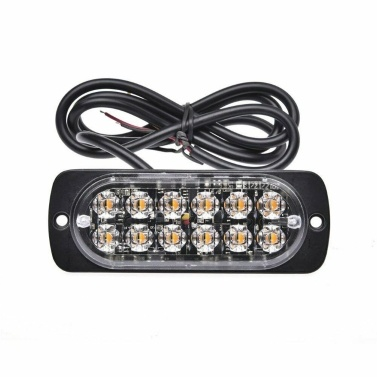 4PCS 12 Strobe LED Gelbe Warnblinkanlage Notblinkende Seitenmarkierungsleuchte