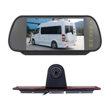 7in Brake Light Backup Camera for Mercedes-Benz Sprinter/VW Crafter Vans LED Light Parking (with Monitor)