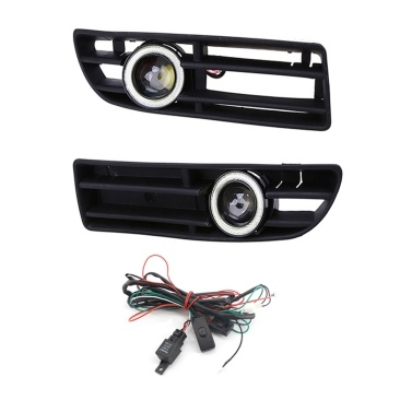 Fog Light LED Front Bumper Grille DRL Lamp Part Replacement For VW Jetta Bora Mk4 99-04