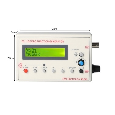 FG-100 DDS Function Signal Generator Frequency Counter 1Hz - 500KHz( Beige)