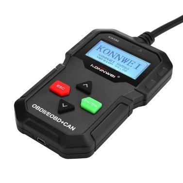 KONNWEI OBDII-Scanner, KW590-Autocodeleser, CAN-Diagnosescan-Tool und vollständige OBDII-EOBD-Funktionen mit erstklassigem Universal Automotive Check Engine Light Reader für alle Fahrzeuge ab 1996
