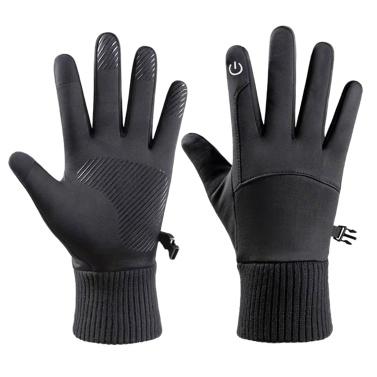 Winter Warm Gloves Fleece Windproof Waterproof Touchscreen Sports Cycling Skiing Bicycle Outdoor Work Gloves