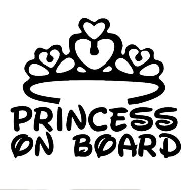 Prinzessin an Bord Car Body Styling Aufkleber abnehmbare wasserdicht