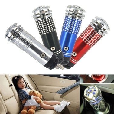 36% OFF Mini Portable Car Air Purifier DC 12V Anion Ionizer Cleaner,limited offer $1.69