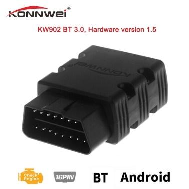 KONNWEI Mini BT Wireless OBDII Auto Selbstdiagnose Scan Tools Orange KW902