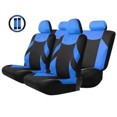 Tirol Universal 13PCS Auto Sitzabdeckung Vordersitz Bank Sitzabdeckungen Radabdeckung Serie Rot/Blau/Grau/Beige