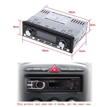 Car Stereo Radio Audio Player Receiver In-Dash FM Aux Input WMA WAV MP3 Player SD/USB Port