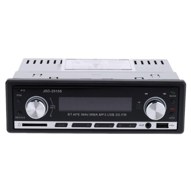 Car Stereo Radio Audio Player Receiver In-Dash FM Aux Input WMA WAV MP3 Player SD/USB Port