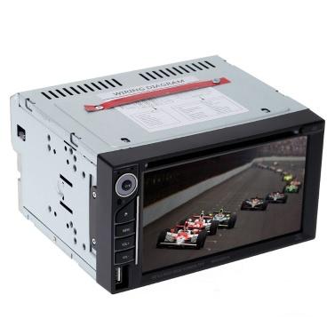 Schön UI Design 6.2 Zoll Universal Doppel Din Auto DVD/USB/SD Player HD Multimedien BT Radio Unterhaltung
