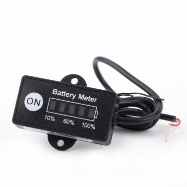 KKmoon LED Digital Batteriestatus Ladeanzeige Monitor Batteriemessgeräte 12V/24V