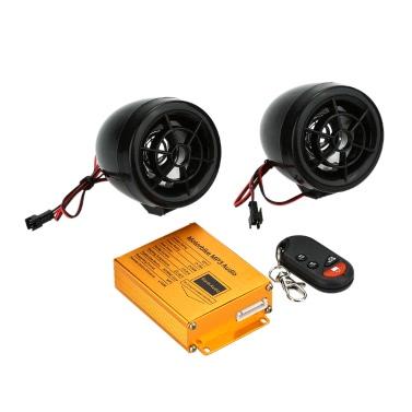 KKmoon Roller Motorrad MP3-Player Audio Lautsprecher Alarmanlage mit USB/SD Slot