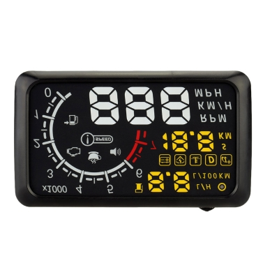Buy 5.5 Inch Car HUD Head Display KM/h & MPH Speeding Warning OBDII Interface Windshield Project System Bluetooth Function Connect Phone PC