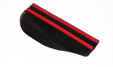 2ST Flexible PVC-Auto Rückspiegel Regen Schatten Regendichtes Blades schwarz