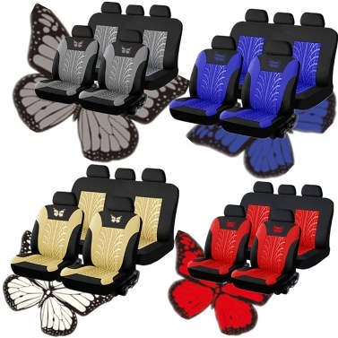Autositzbezüge Vorder- und Rückseite Split Bench Protection 5-Sitzer Einfach zu installieren Kompatibel mit 90% Fahrzeugen (Auto Truck Van SUV)