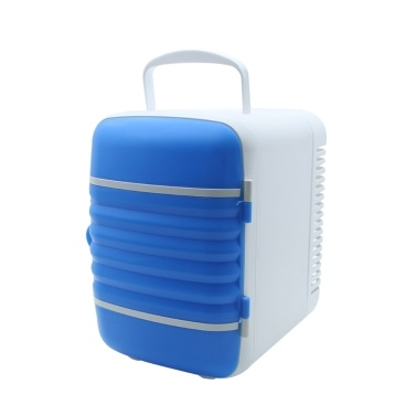 4L Mini Portable Refrigerator 2 in 1 Cooler Warmer Fridge for Car Home Office,Blue