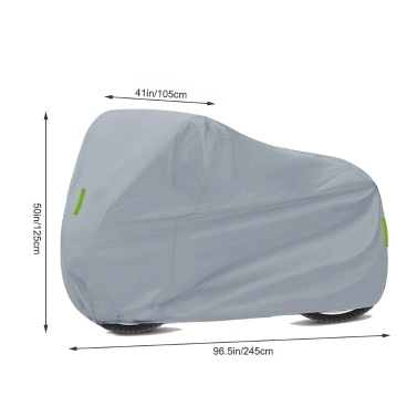 Universal Motorcycle Cover – All Season Waterproof Outdoor Protection Against Dust Debris Rain and Weather