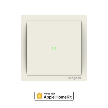 15% de réduction pour Koogeek Wi-Fi Smart Light Switch Fonctionne avec Apple HomeKit seulement € 32,44