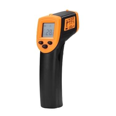 HW600 Termómetro infrarrojo portátil sin contacto Pantalla LCD Medidor de temperatura, Termómetro industrial IR digital Termómetro pirómetro láser, -50 ~ 600 ° C / -58 ~ 1122 ° F (NO para humanos), batería no incluida