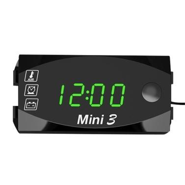 Motorcycle DC 6V-30V 3 In 1 Digital Time Clock + Thermometer +Voltage voltmeter