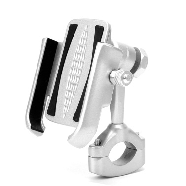 Bicycle & Motorcycle Phone Mount, 360 Rotation Motorcycle Phone Bracket Universal Aluminum Alloy Bike Phone Holder Handlebar Clip Stand