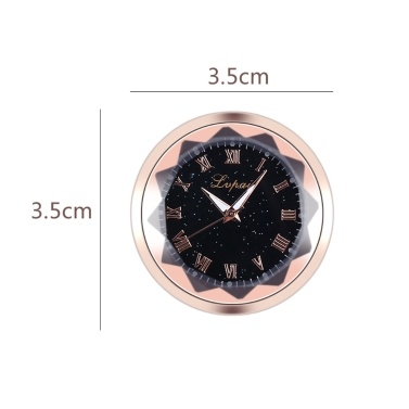 Mini Feinmetall Elektronische Uhr Römischen Ziffern Skala Auto Innendekoration Paste Studie Bequemlichkeit