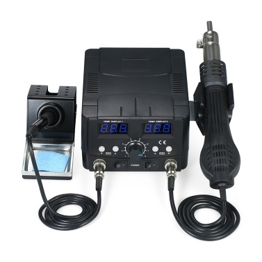 220V 2 in 1 Digital SMD Rework Soldering Station Hot Air Gun Soldering Iron Stand Desolder Welding Tools Set