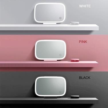 Auto Sonnenblende Spiegel mit LED-Lichtern Make-up Sonnenschutz Kosmetikspiegel Verstellbarer Kosmetikspiegel Clip auf Auto Touchscreen Schminkspiegel