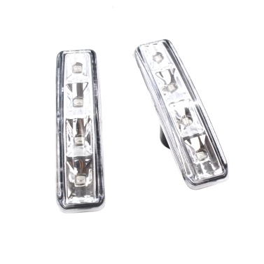 2pcs Smoke Fender LED Side Marker Lights Replacement for BMW 97-03 E39 525i 528i 530i 540i