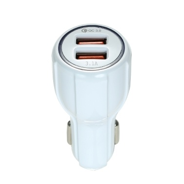 Quelima QC3.0 Dual USB Schnellladegerät Auto Ladegerät Weiß