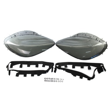 Headlight Lens Cover Headlamp Lens Plastic Shell Cover Headlight Assembly Replacement for Corvette C6 2005-2013