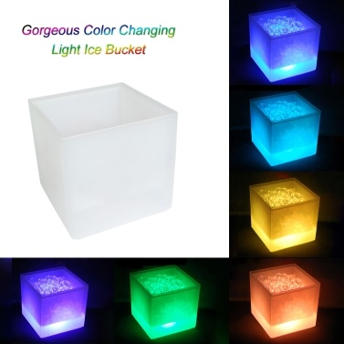 51% OFF 3.5L Double RGB Color Ice Bucket,limited offer $17.99