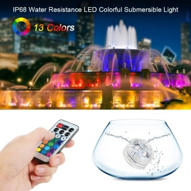 Mini LEDs RGB Submersible Light Colorful Lamp Underwater Candle Light IP68 Water Resistance with Remote Control 12pack