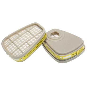 2Pcs Acid Gas Cartridge Filterbox für organische Dämpfe