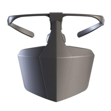 Máscara protectora de plástico contra gotas Aislamiento antivaho Máscara facial Cubierta protectora reutilizable transpirable Escudo de aislamiento
