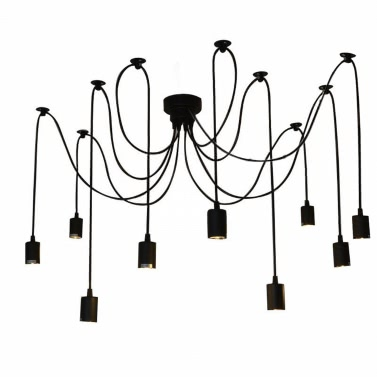 Lixada 9 Arms E27 Ceiling Spider Pendant Lighting Fixture