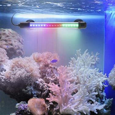 "18.9"" 4W 57LED 3 Colors IP68 Waterproof Submersible Aquarium Light Suction Stick Bar Lamp for Fish Tank Pet Cage Cistern Rockery"