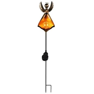 Solar-LED simulieren Flammen-Licht-Rasenlaternen-Lampe