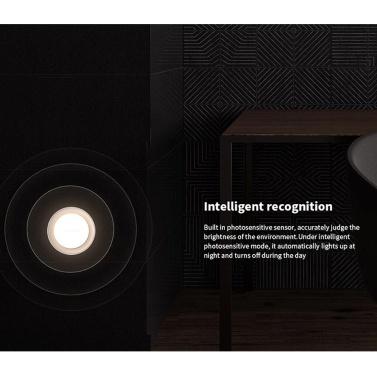 Yeelight Plug-in-LEDs Nachtlicht Warmweiß Energiesparender Beleuchtungssensor für Wohnzimmer Schlafzimmer Flurtreppen (200-220 V, CN-Stecker)