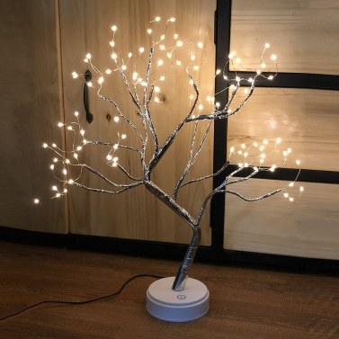 Decoração para casa de economia de energia Pequena lâmpada noturna 108 lâmpadas Emulational Tree Light