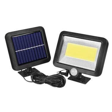 100COB Solar Energy Wall Mounted Night Lamp Motion Light Sensor Outdoor Waterproof Garden Security Light