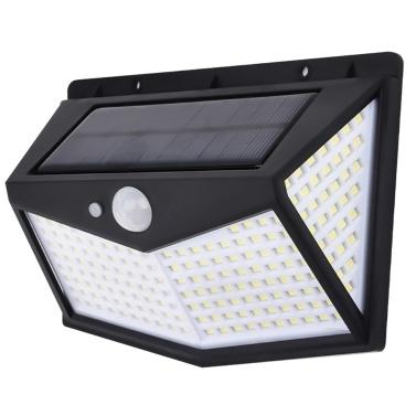 212L-ED Solar Wall Lamp Motion Sensor IP65 Waterproof 3 Modes Outdoor Garden Porch Street Light