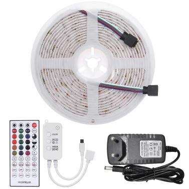 5m 150LEDs 5050RGB Farbwechsel-LED-LED-Lichtleisten mit IR-Fernbedienung