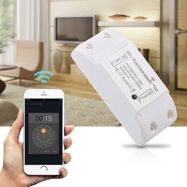 2Pack Yuntong Wifi Switch Wireless Smart Breaker with Remote Voice Control